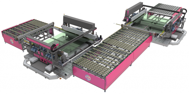 Automatic Glass Double Edger Line